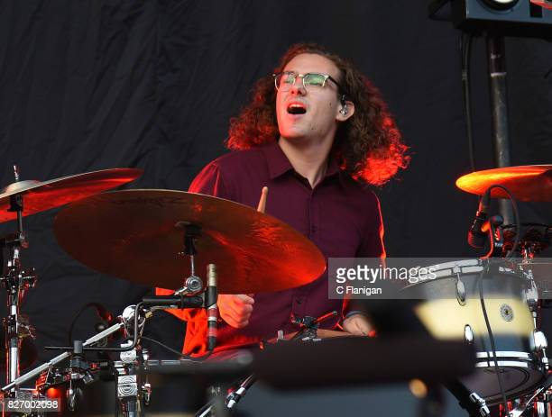 Drummer Bob 'Sideshow Bob' Hall of Catfish and the Bottlemen performs during the 2017 'Radio Revolution' Tour at OaklandAlameda County Coliseum on...