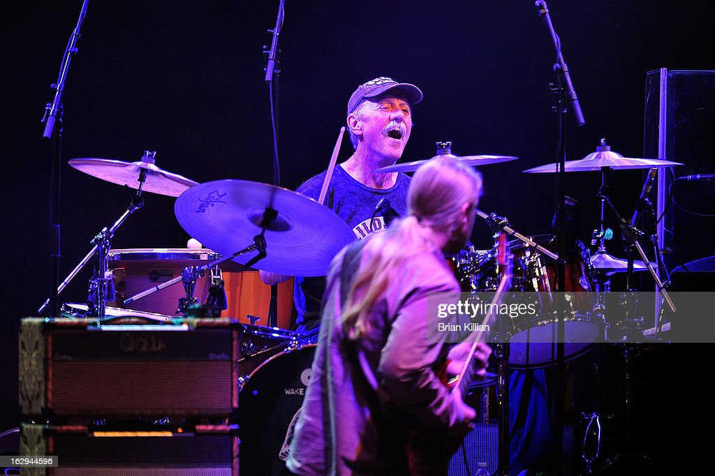 Drummer Butch Trucks of The Allman Brothers Band performs at Beacon Theatre on March 1, 2013 in New York City.
