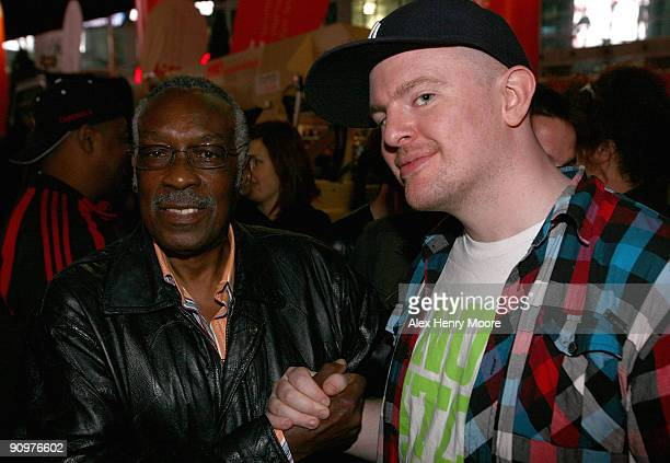 Drummer Clyde Stubblefield and Ian Edgar of Eclectic Method attend the Wrap Party/Eclectic Method remixes The Essential 100 at Yonge and Dundas...