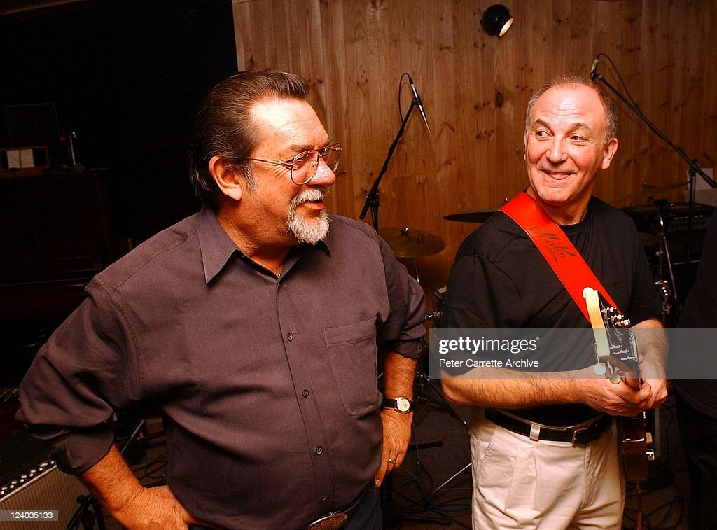 Drummer Col Baigent and guitarist Tony Barber during rehearsals with the reunited members of the band 'Billy Thorpe and the Aztecs' at Thorpe's home...