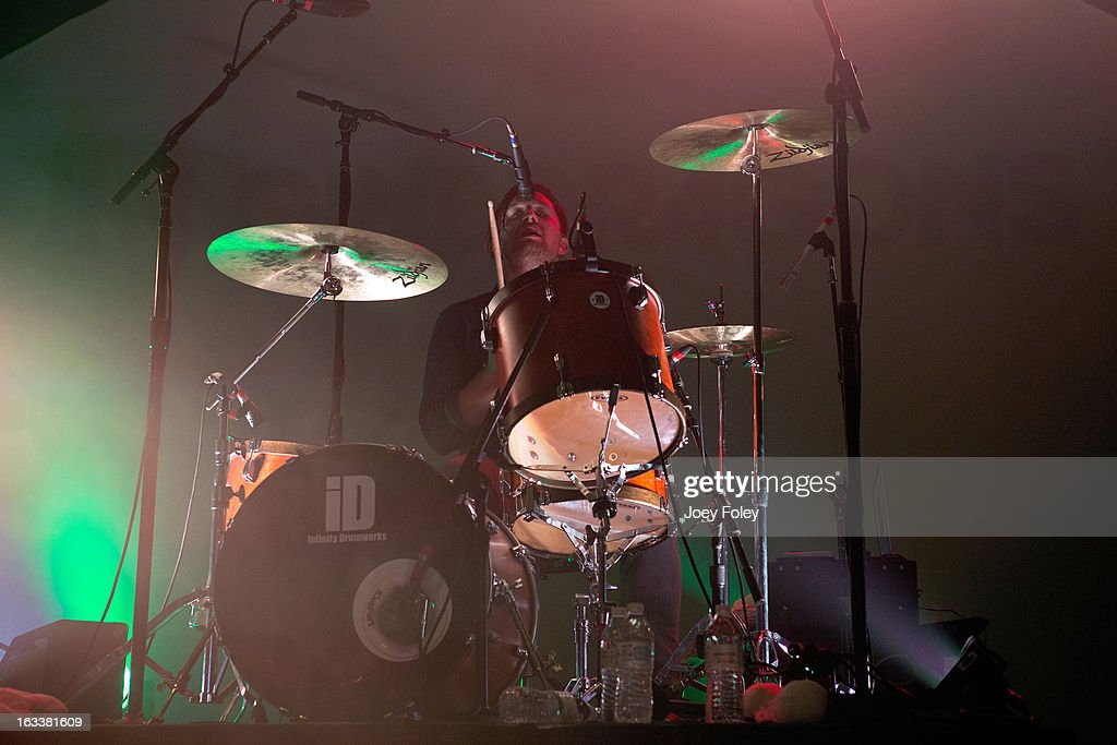 Drummer Dan Platzman of Imagine Dragons performs at the Egyptian Room at Old National Centre on February 28, 2013 in Indianapolis, Indiana.