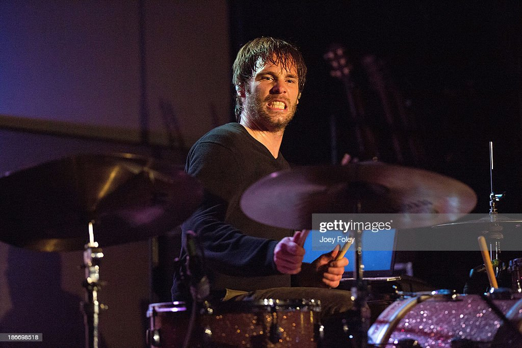 Drummer Dave Powell of the rock band Emery performs live in concert at The Emerson Theater on November 2, 2013 in Indianapolis, Indiana.