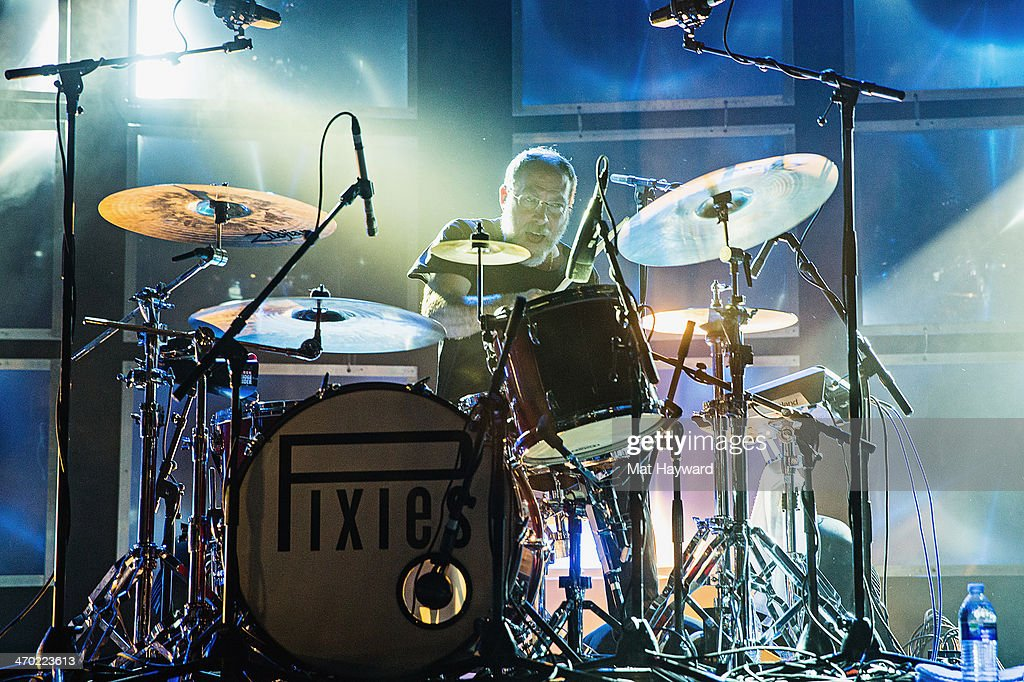 Drummer David Lovering of the Pixies performs on stage at The Paramount Theater on February 18, 2014 in Seattle, Washington.