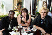 Drummer De'Mar Hamilton and singer Tom Higgenson of the band Plain White T's attend Shape Magazine celebrates Jillian Michaels' cover and 35th...