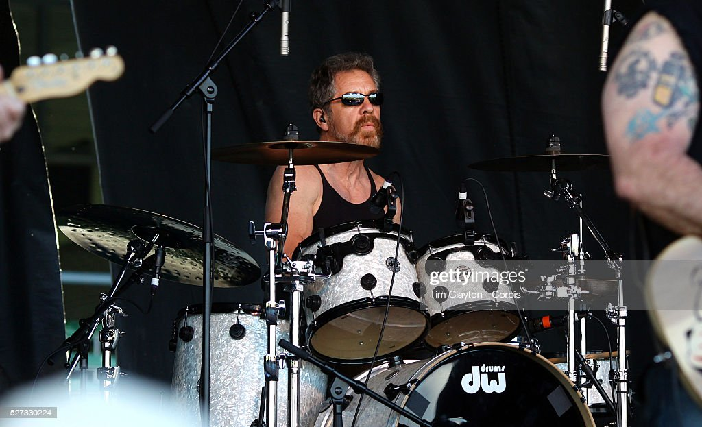 Drummer Doug 'Cosmo' Clifford performing with Creedence Clearwater Revisited performing at the Queenstown Events Centre Queenstown Otago New Zealand...