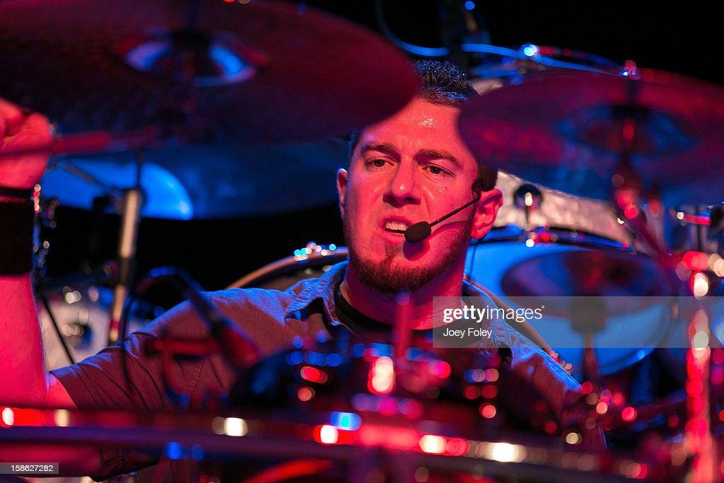 Drummer Doug Morgan of Livid performs in concert at Bogart's on December 15, 2012 in Cincinnati, Ohio.
