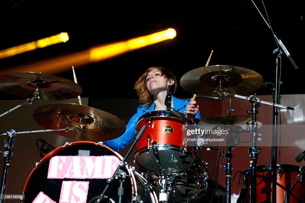 Drummer Elaine Bradley of Neon Tyler performs onstage at the 23rd Annual KROQ Almost Acoustic Christmas at Gibson Amphitheatre on December 9, 2012 in Universal City, California.