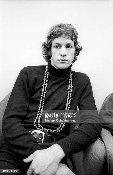 Drummer Gregg Errico of the psychedelic soul group 'Sly And The Family Stone' poses for a portrait session at CBS Studios on August 1 1968 in New...