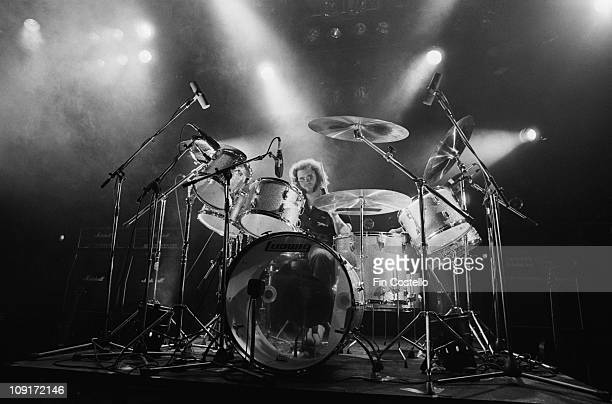 drummer Ian Paice from Whitesnake performs live on stage at the Rainbow Theatre in Finsbury Park London in March 1981