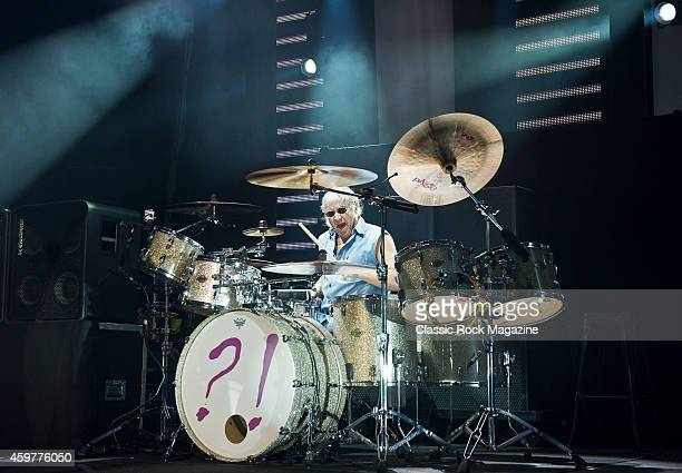 Drummer Ian Paice of English rock group Deep Purple performing live on stage at The Roundhouse in London on October 17 2013