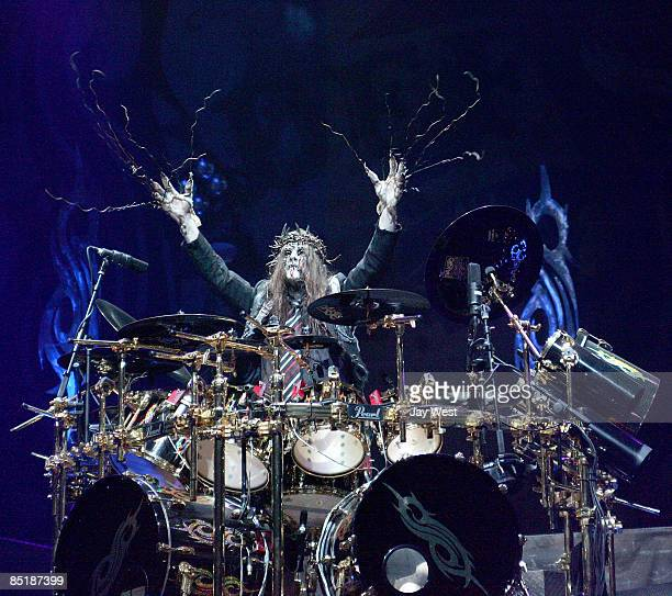 Drummer Joey Jordison of Slipknot performs in concert at The Freeman Coliseum on March 1 2009 in San Antonio Texas