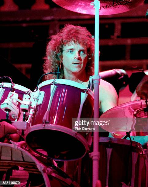 Drummer Joey Kramer of Aerosmith performs at The OMNI Coliseum in Atlanta Georgia May 05 1990