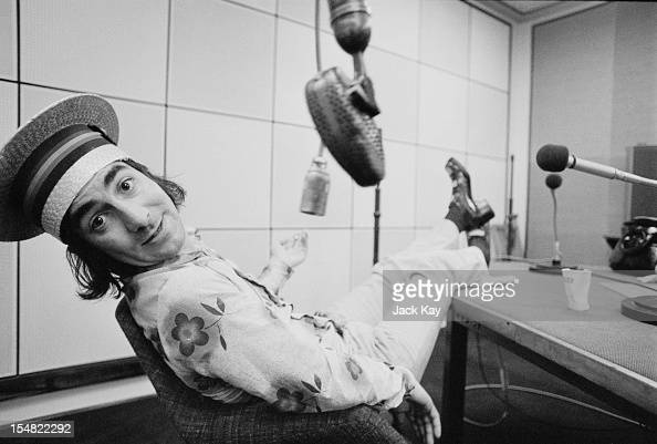 Drummer Keith Moon of British rock group The Who in a radio studio at Broadcasting House London 12th July 1973 Moon is recording skits to play...