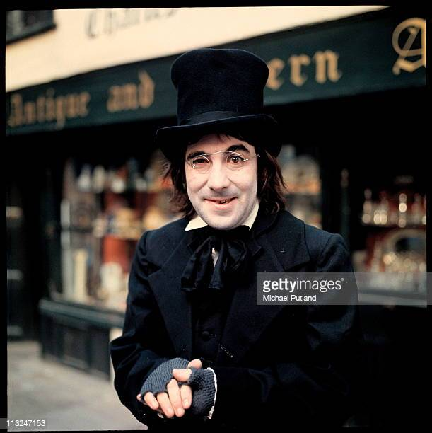 Drummer Keith Moon of English rock group The Who dressed as Scrooge for Disc and Music Echo magazine Christmas edition London 14th December 1970 He...