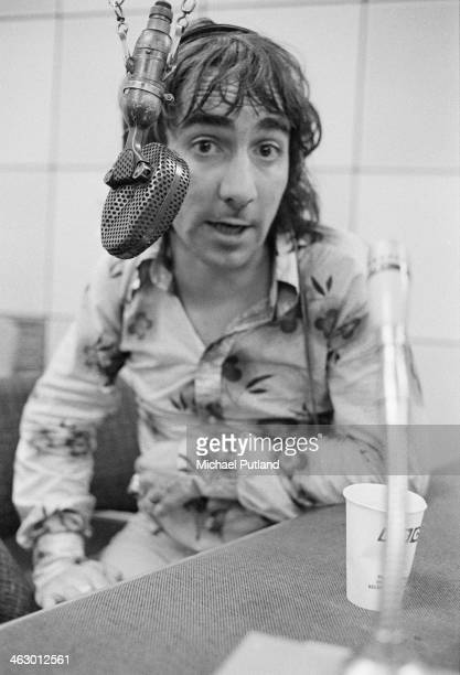 Drummer Keith Moon of The Who in a BBC radio studio at Broadcasting House London 11th July 1973