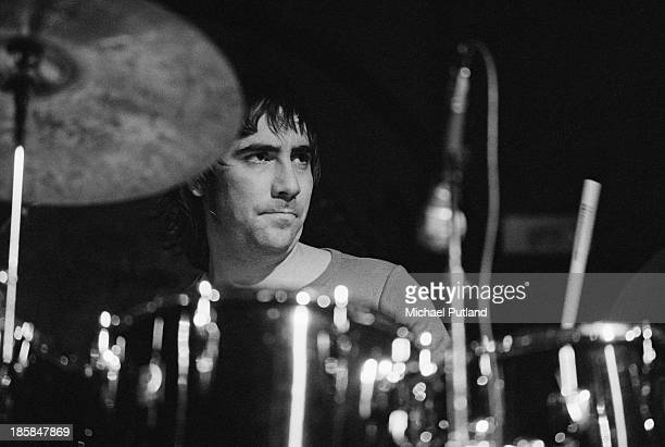 Drummer Keith Moon performing with English rock group The Who 24th October 1973