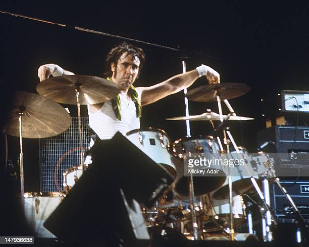 Drummer Keith Moon performs with The Who at The Gator Bowl in Jacksonville FL on August 7 1976