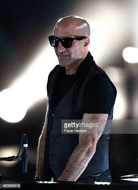 Drummer Kenny Aronoff performs onstage at the 25th anniversary MusiCares 2015 Person Of The Year Gala honoring Bob Dylan at the Los Angeles...