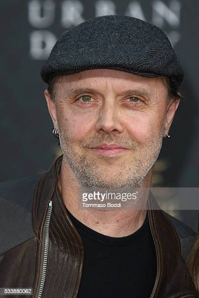 Drummer Lars Ulrich attend the premiere of Disney's 'Alice Through The Looking Glass' at the El Capitan Theatre on May 23 2016 in Hollywood California
