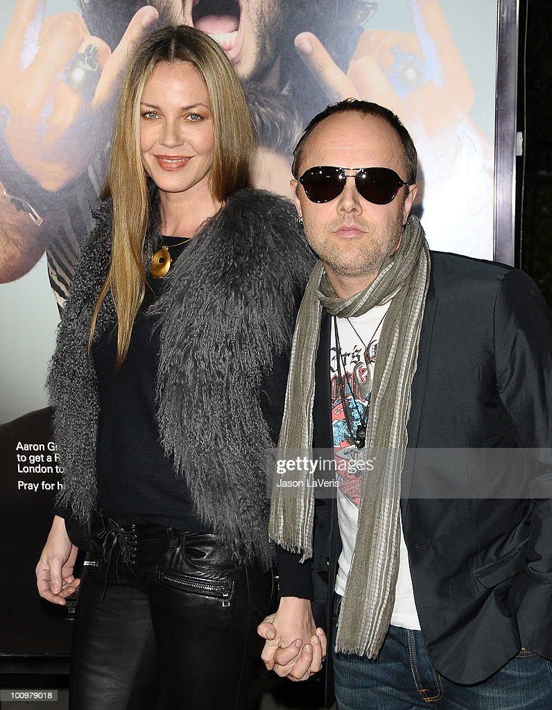 Drummer <a gi-track='captionPersonalityLinkClicked' href=/galleries/search?phrase=Lars+Ulrich&family=editorial&specificpeople=209281 ng-click='$event.stopPropagation()'>Lars Ulrich</a> of Metallica (R) and actress <a gi-track='captionPersonalityLinkClicked' href=/galleries/search?phrase=Connie+Nielsen&family=editorial&specificpeople=206287 ng-click='$event.stopPropagation()'>Connie Nielsen</a> and attend the premiere of 'Get Him To The Greek' at The Greek Theatre on May 25, 2010 in Los Angeles, California.