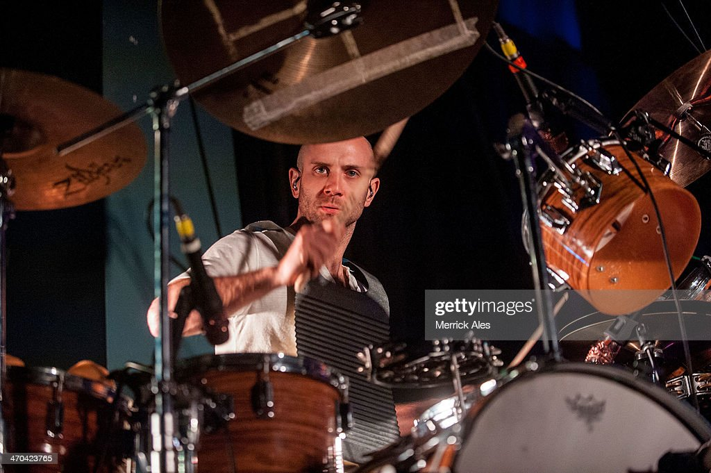 Drummer Mark Barry of Lord Huron perfoms at Emo's on February 18, 2014 in Austin, Texas.