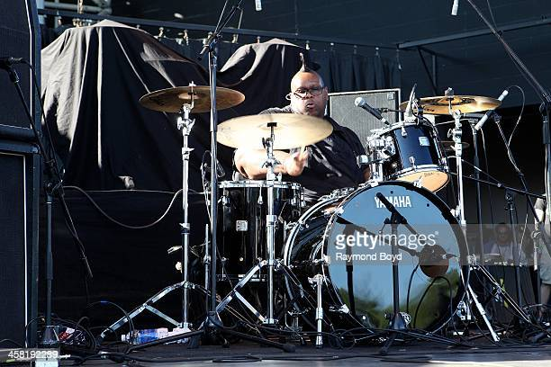 Drummer Michael Bland from Soul Asylum performs on the US Cellular Connection Stage at the Henry W Maier Festival Park during the HarleyDavidson...