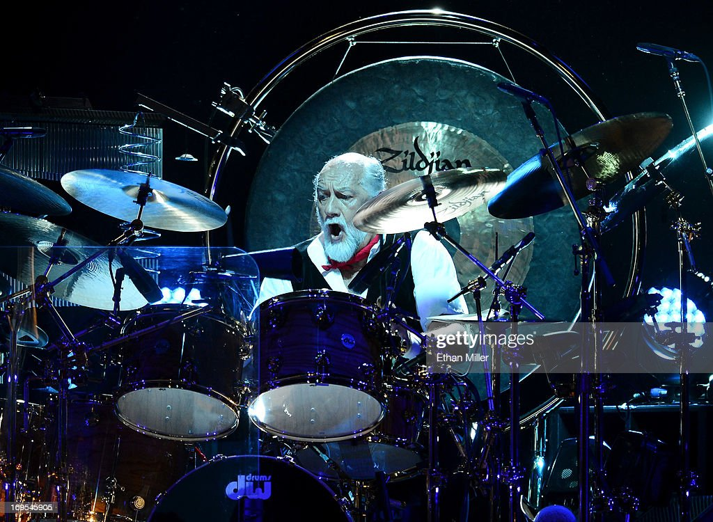 Drummer <a gi-track='captionPersonalityLinkClicked' href=/galleries/search?phrase=Mick+Fleetwood&family=editorial&specificpeople=209055 ng-click='$event.stopPropagation()'>Mick Fleetwood</a> of Fleetwood Mac performs at the MGM Grand Garden Arena on May 26, 2013 in Las Vegas, Nevada.