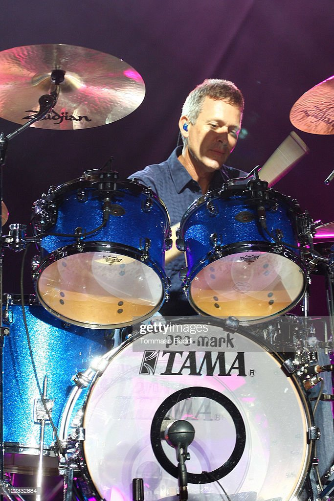 Drummer Mike Malinin performs at the Greek Theatre on August 27, 2011 in Los Angeles, California.