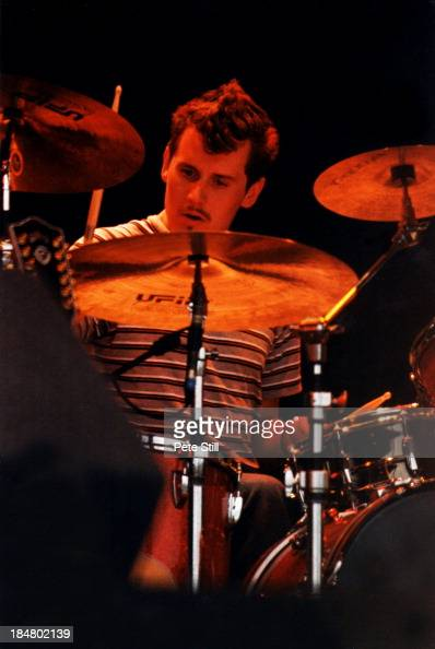 Drummer Neil Primrose of Travis performs on stage at the Glastonbury Festival on June 27th 1999 in London England