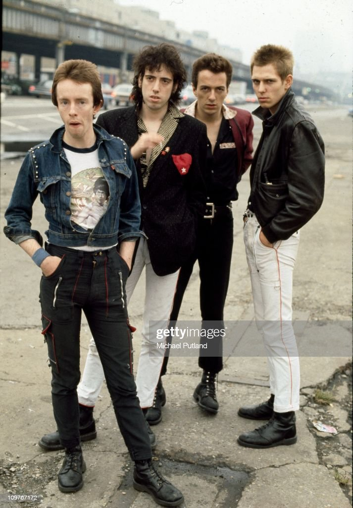 Drummer Nicky 'Topper' Headon, guitarist <a gi-track='captionPersonalityLinkClicked' href=/galleries/search?phrase=Mick+Jones+-+Musician+-+The+Clash&family=editorial&specificpeople=212985 ng-click='$event.stopPropagation()'>Mick Jones</a>, singer <a gi-track='captionPersonalityLinkClicked' href=/galleries/search?phrase=Joe+Strummer&family=editorial&specificpeople=226957 ng-click='$event.stopPropagation()'>Joe Strummer</a> (1952 - 2002) and bassist <a gi-track='captionPersonalityLinkClicked' href=/galleries/search?phrase=Paul+Simonon&family=editorial&specificpeople=216507 ng-click='$event.stopPropagation()'>Paul Simonon</a> of British punk group The Clash in New York in 1978.