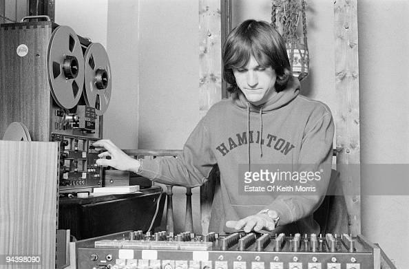 Drummer Nigel Pegrum of electric folk band Steeleye Span April 1977