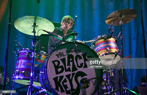 Drummer Patrick Carney of the Black Keys performs at Time Warner Cable Arena on December 12 2014 in Charlotte North Carolina