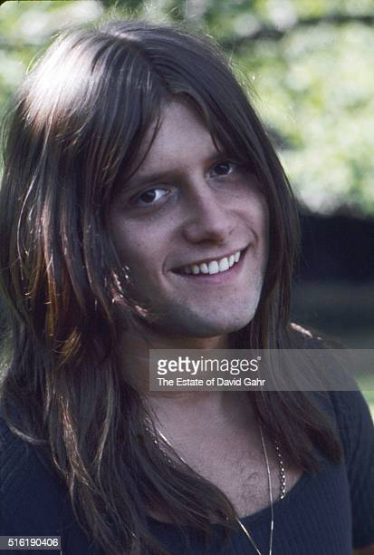 Drummer percussionist and composer Carl Palmer for progressive rock group Emerson Lake and Palmer poses for a portrait in August 1971 in Danbury...