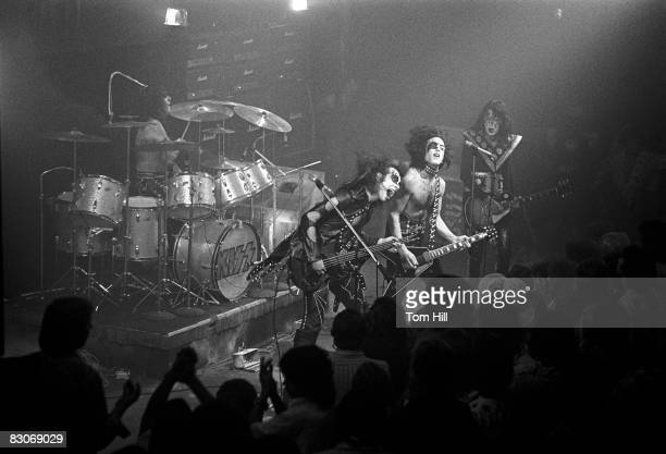 Peter Criss Gene Simmons Paul Stanley and Ace Frehley of Kiss