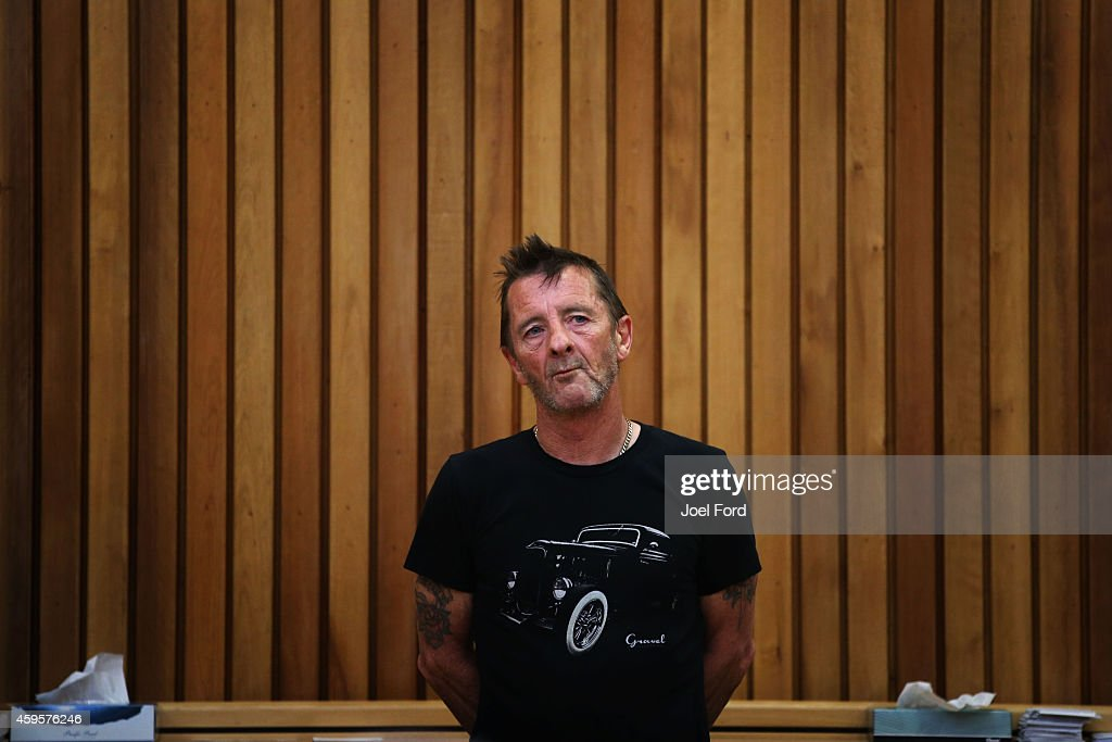 AC/DC drummer <a gi-track='captionPersonalityLinkClicked' href=/galleries/search?phrase=Phil+Rudd&family=editorial&specificpeople=3760625 ng-click='$event.stopPropagation()'>Phil Rudd</a> appears in court after being charged with threatening to kill and possession of meth and marijuana at Tauranga District Court on November 26, 2014 in Tauranga, New Zealand. <a gi-track='captionPersonalityLinkClicked' href=/galleries/search?phrase=Phil+Rudd&family=editorial&specificpeople=3760625 ng-click='$event.stopPropagation()'>Phil Rudd</a> was <a gi-track='captionPersonalityLinkClicked' href=/galleries/search?phrase=ACDC&family=editorial&specificpeople=7798198 ng-click='$event.stopPropagation()'>ACDC</a>'s drummer from 1975 to 1983.