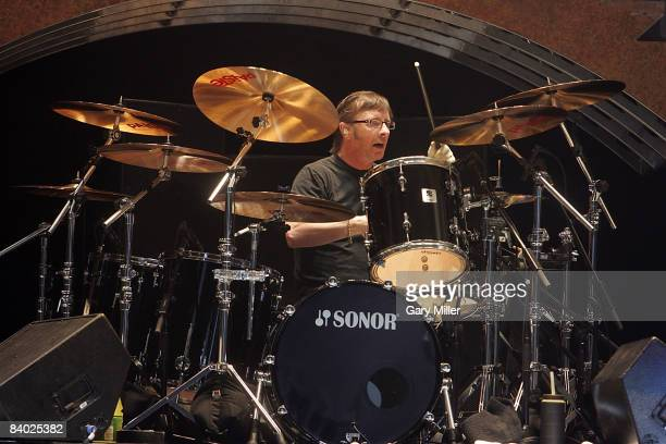 Drummer Phil Rudd of the Australian band AC/DC performs in concert at the ATT Center on December 12 2008 in San Antonio Texas