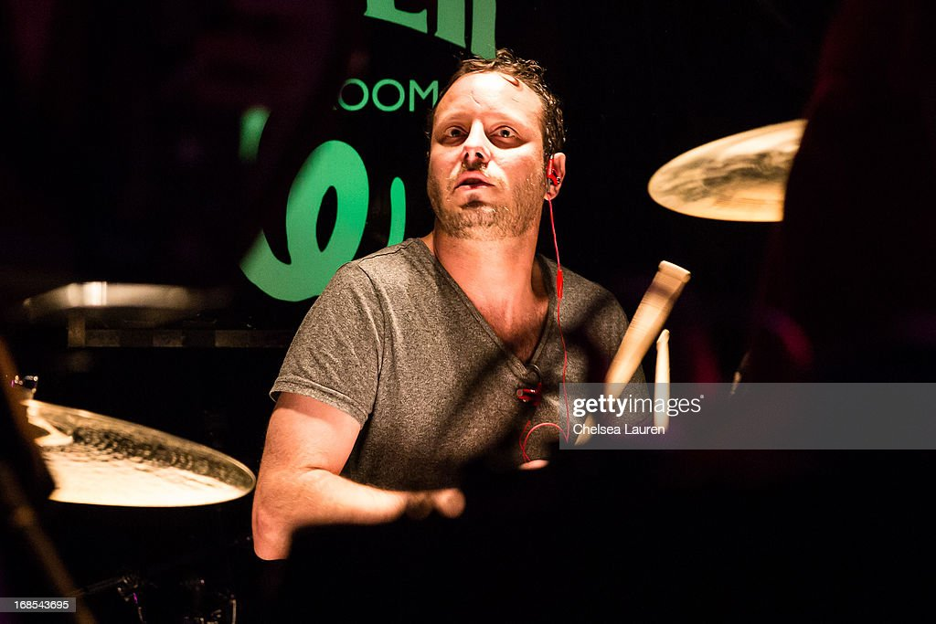 Drummer Raymundo Leal performs with Mexican Dubwiser at Viper Room on May 10, 2013 in West Hollywood, California.