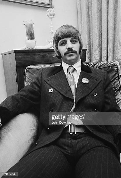 Drummer Ringo Starr at the press launch for the Beatles' new album 'Sergeant Pepper's Lonely Hearts Club Band' held at Brian Epstein's house at 24...