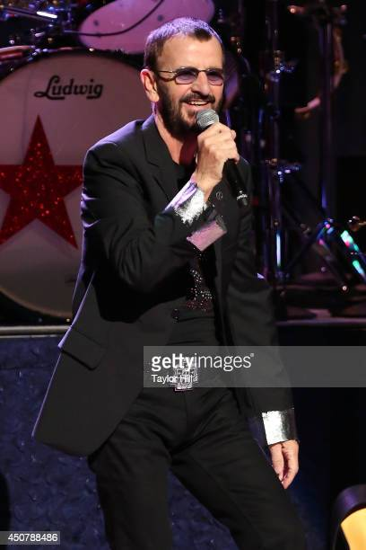 Drummer Ringo Starr of The Beatles performs in concert with the All Starr Band at Beacon Theatre on June 17 2014 in New York City