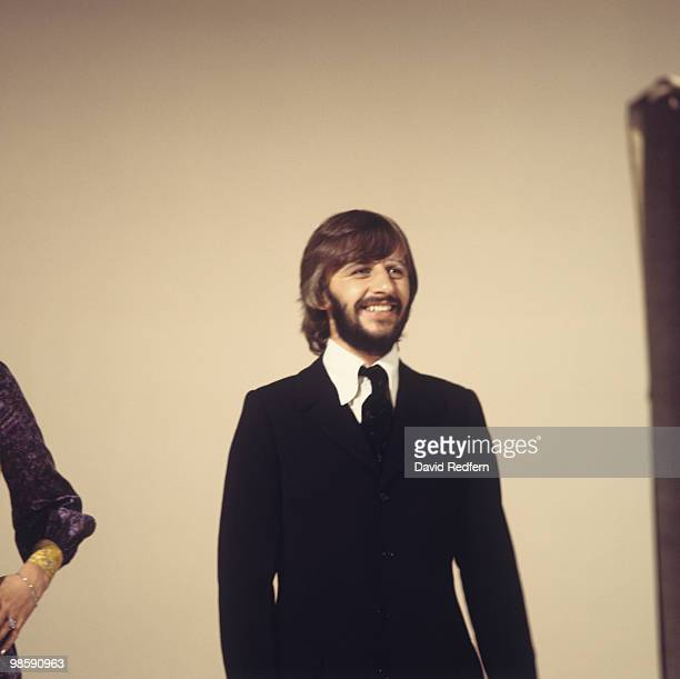 Drummer Ringo Starr of The Beatles performs on a television show circa 1969