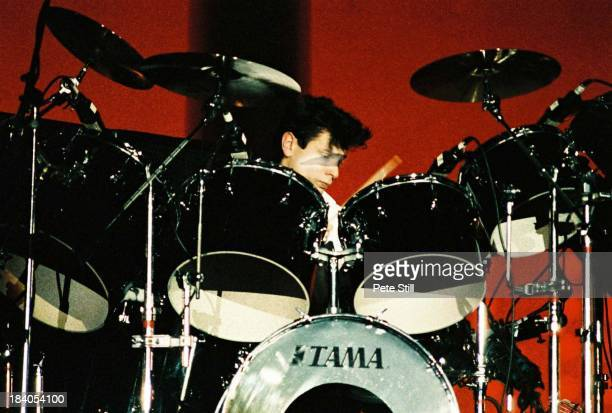 Drummer Roger Taylor of Duran Duran performs on stage at Wembley Arena on December 20th 1983 in London England