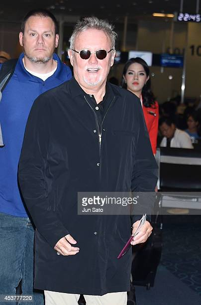 Drummer Roger Taylor of Queen is seen at Haneda International Airport on August 18 2014 in Tokyo Japan