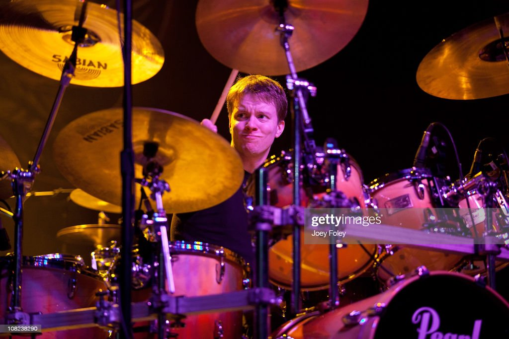 Drummer Ryan Simpson of the Scotty Bratcher Band performs at the Steelers Playoff Party at Stage AE on January 14, 2011 in Pittsburgh, Pennsylvania.