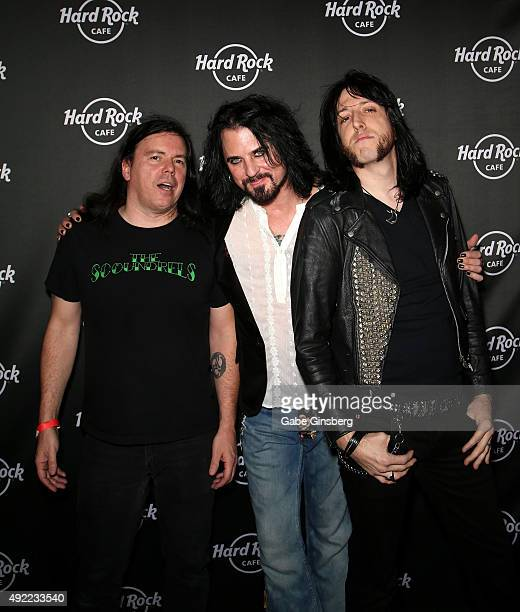Drummer Scot Coogan and guitarist Keith Robert attend Hard Rock Cafe Las Vegas at Hard Rock Hotel's 25th anniversary celebration on October 10 2015...