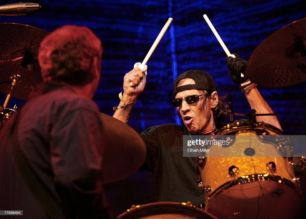 Drummer Scott Asheton of Iggy & The Stooges performs during the Vegoose music festival at Sam Boyd Stadium's Star Nursery Field October 27, 2007 in Las Vegas, Nevada.