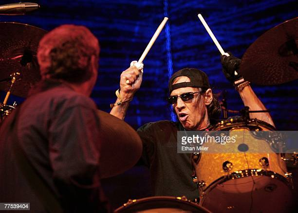 Drummer Scott Asheton of Iggy The Stooges performs during the Vegoose music festival at Sam Boyd Stadium's Star Nursery Field October 27 2007 in Las...