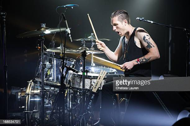 Drummer Sean Friday of Dead Sara performs at El Rey Theatre on May 9 2013 in Los Angeles California