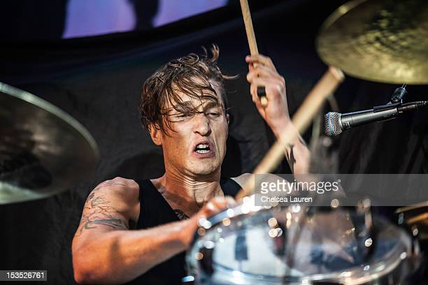 Drummer Sean Friday of Dead Sara performs at Hollywood Palladium on October 5 2012 in Hollywood California