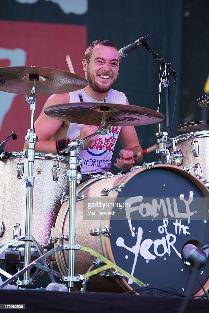 Drummer Sebastian Keefe of Family of the Year performs on stage during Summer Camp hosted by 107.7 The End at Marymoor Park on August 10, 2013 in Seattle, Washington.