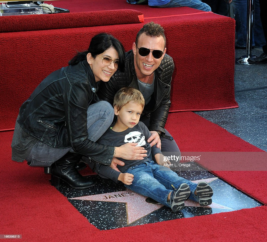 Drummer Stephen Perkins and family at Jane's Addiction Star On The Hollywood Walk Of Fame Ceremoney on October 30, 2013 in Hollywood, California.